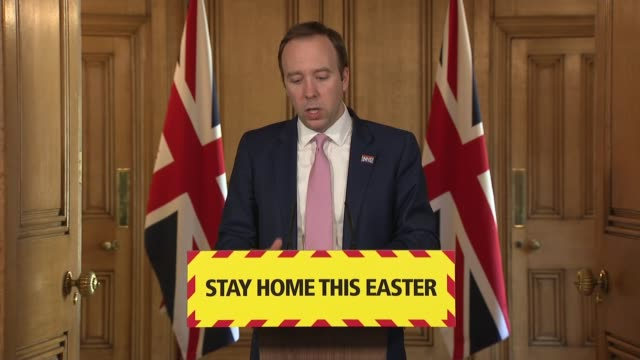 downing street press conference april 10th england london westminster downing street number 10 int press conference part 3 of 14 matt hancock mp... - complexity stock videos & royalty-free footage