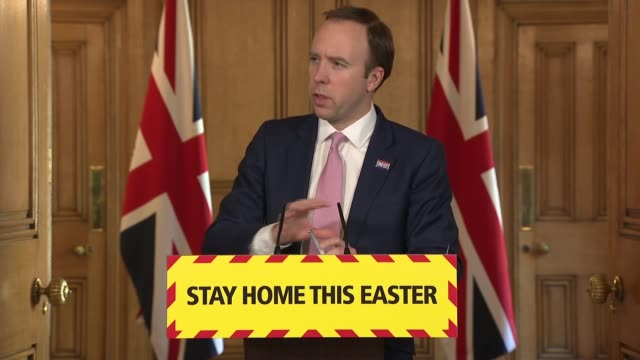 stockvideo's en b-roll-footage met downing street press conference april 10th; england: london: westminster: downing street: number 10: int press conference part 9 of 14 ruth may ,... - number 9
