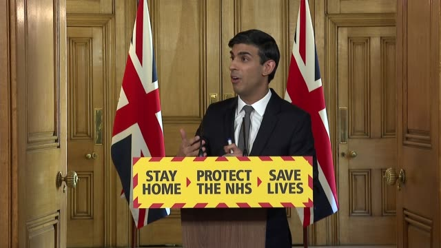 downing street press conference april 14th england london westminster downing street int press conference part 8 of 11 rishi sunak mp responding to... - furlough stock videos & royalty-free footage