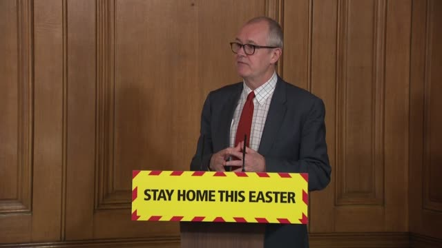 downing street press conference april 15th; england: london: westminster: downing street: int dominic raab mp , sir patrick vallance and prof chris... - asking stock videos & royalty-free footage