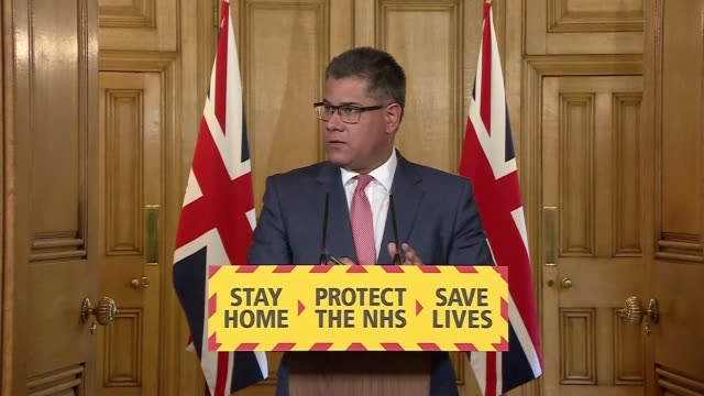 downing street press conference april 17th; england: london: westminster: downing street: int press conference part 9 of 11 alok sharma mp , sir... - recovery stock videos & royalty-free footage