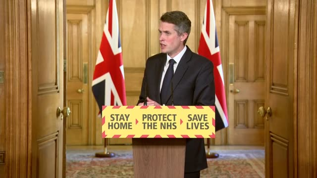 downing street press conference april 19th gavin williamson mp and dr jenny harries press conference clip 12 of 12 q lack of personal protective... - complexity stock videos & royalty-free footage