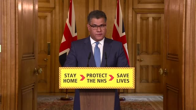 downing street press conference april 1st; england: london: westminster: downing street: number 10: int press conference part 2 of 7 alok sharma mp... - doing a favour stock videos & royalty-free footage
