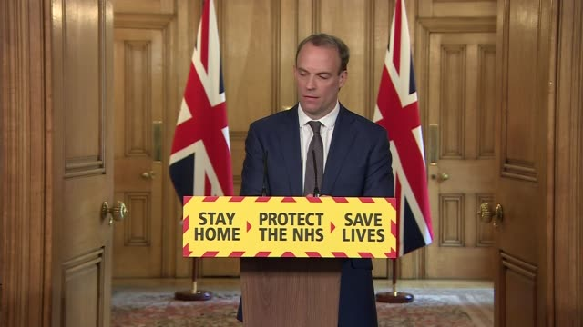 downing street press conference april 29th england london westminster downing street int press conference part 11 of 13 dominic raab mp yvonne doyle... - india politics stock videos & royalty-free footage