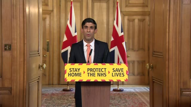 vidéos et rushes de downing street press conference april 8th; england: london: westminster: downing street: int rishi sunak mp statement sot. - but some charities are... - bbc children in need