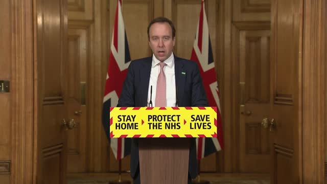 downing street press conference february 1st 2021; press conference part 7 of 8 england: london: westminster: downing street: int matt hancock mp ,... - bumpy stock videos & royalty-free footage