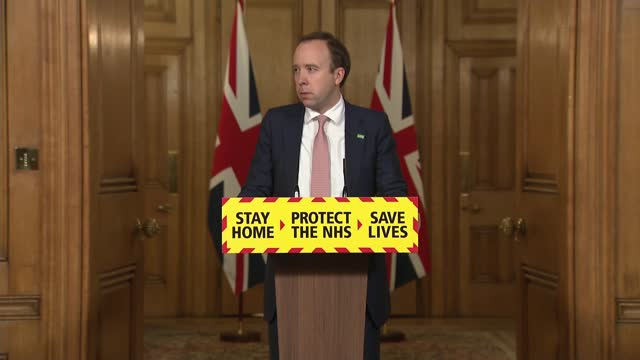 downing street press conference february 1st 2021; press conference part 2 of 8 england: london: westminster: downing street: int matt hancock mp... - new stock videos & royalty-free footage