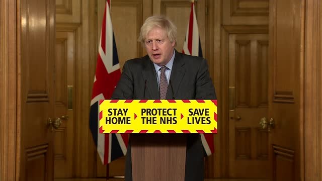 downing street press conference february 3rd 2021; part 6 of 9 england: london: westminster: downing street: int questions from press boris johnson... - high street stock-videos und b-roll-filmmaterial