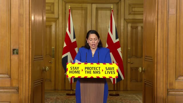 downing street press conference jan 12th; press conference part 1 of 8 england: london: westminster: downing street: int priti patel mp , martin... - politics stock videos & royalty-free footage