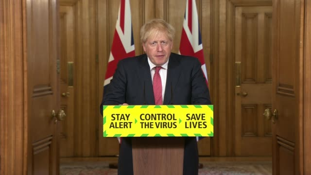 downing street press conference july 17th england london westminster downing street int boris johnson mp statement sot action by local councils will... - central london video stock e b–roll