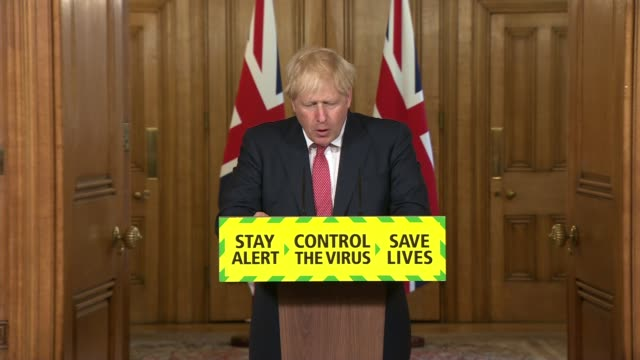 downing street press conference july 17th; england: london: westminster: downing street: int boris johnson mp statement sot . - it relies on our... - {{relatedsearchurl(carousel.phrase)}} video stock e b–roll