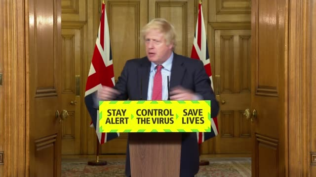downing street press conference june 10th; england: london: westminster: downing street: int sir patrick vallance , chris whitty and boris johnson mp... - asking stock videos & royalty-free footage