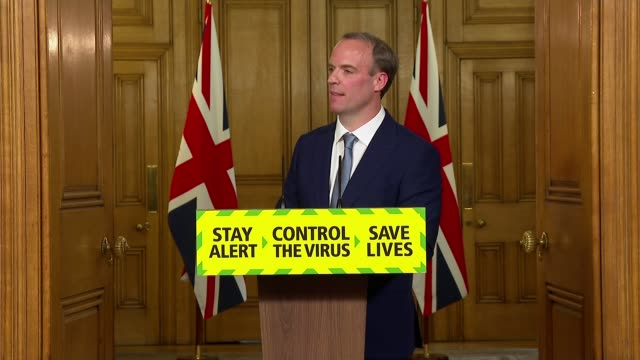 downing street press conference june 15th england london westminster downing street int press conference part 6 of 7 dominic raab mp question and... - road junction stock videos & royalty-free footage