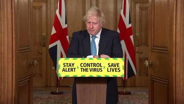 downing street press conference june 16th; england: london: westminster: downing street: 10 downing street: int press conference part 7 of 9 boris... - ecstatic stock videos & royalty-free footage