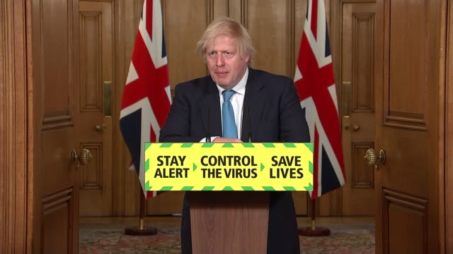 downing street press conference june 16th; england: london: westminster: downing street: 10 downing street: int press conference part 6 of 9 boris... - itv news at one点の映像素材/bロール