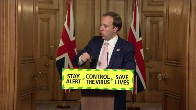 downing street press conference june 18th england london westminster downing street int press conference part 8 of 9 matt hancock mp and baroness... - deer stock videos & royalty-free footage