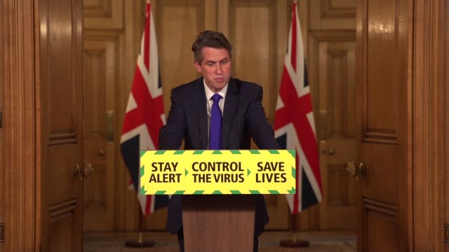 downing street press conference june 19th; england: london: westminster: downing street: int press conference part 2 of 7 gavin williamson mp... - hierarchy stock videos & royalty-free footage