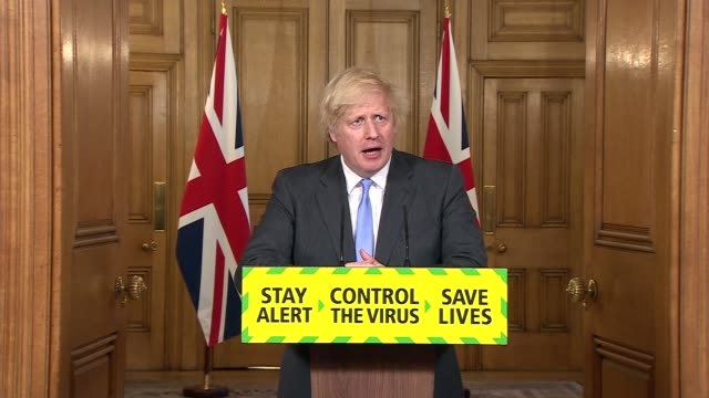 downing street press conference june 23rd; england: london: westminster: downing street: int sir patrick vallance , chris whitty and boris johnson mp... - noise stock videos & royalty-free footage