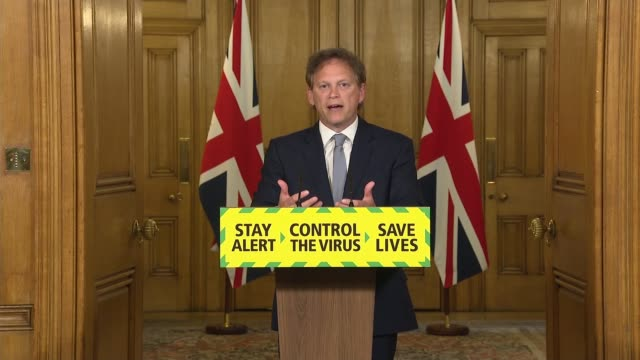downing street press conference june 4th england london westminster downing street grant shapps mp and sir peter hendy answering questions from... - furlough stock videos & royalty-free footage