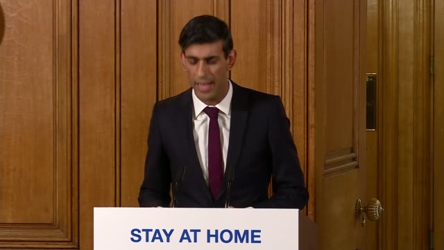 stockvideo's en b-roll-footage met downing street press conference march 20th; england: london: westminster: downing street: int downing street press conference part 3 of 11 rishi... - politics