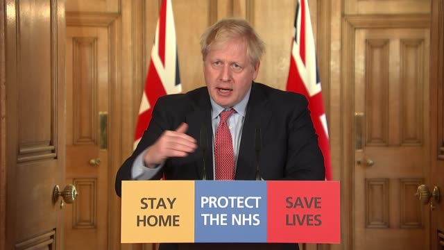 downing street press conference march 25th england london westminster downing street int downing street press conference part 5 of 7 boris johnson mp... - democracy stock videos & royalty-free footage