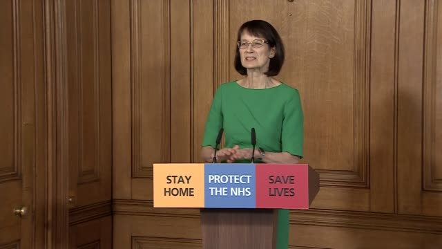 stockvideo's en b-roll-footage met downing street press conference march 29th; england: london: westminster: downing street: number 10: int downing street press conference part 6 of 9... - number 9