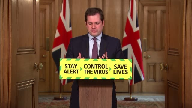 downing street press conference may 13th england london westminster downing street int press conference part 2 of 14 robert jenrick mp statement sot... - politics stock videos & royalty-free footage