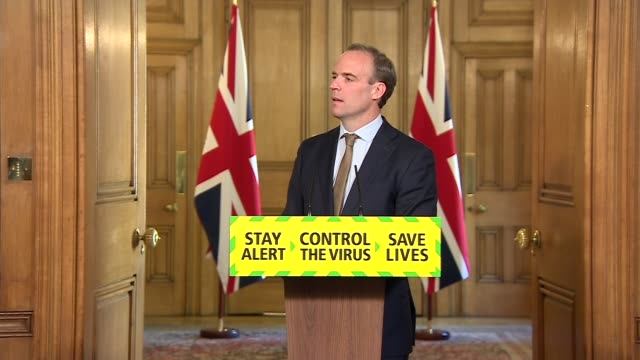 downing street press conference may 18th england london westminster downing street int press conference part 7 of 10 dominic raab mp and jonathan... - ingredient stock videos & royalty-free footage