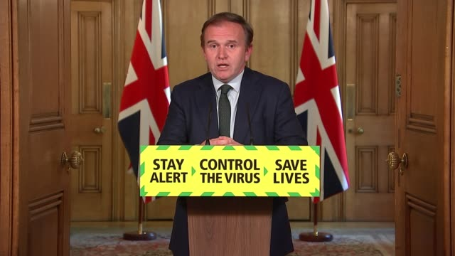 downing street press conference may 20th england london westminster downing street int george eustice mp and professor dame angela mclean answering... - furlough stock videos & royalty-free footage
