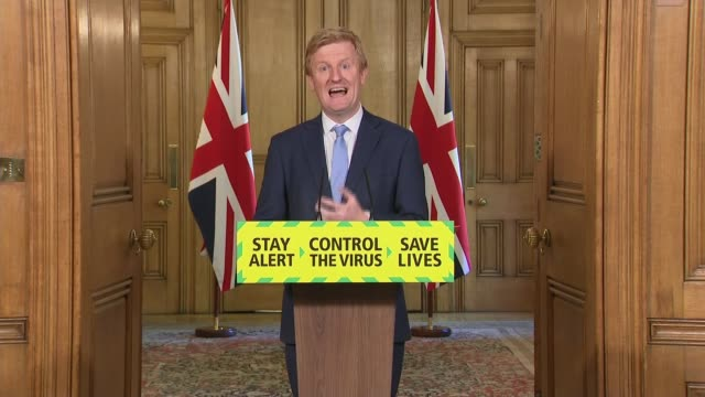 downing street press conference may 20th england london westminster downing street int press conference part 2 of 12 oliver dowden mp statement sot... - captain tom moore stock videos & royalty-free footage