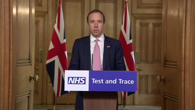 downing street press conference may 27th; england: london: westminster: downing street: int press conference part 2 of 10 matt hancock mp statement... - new age stock videos & royalty-free footage