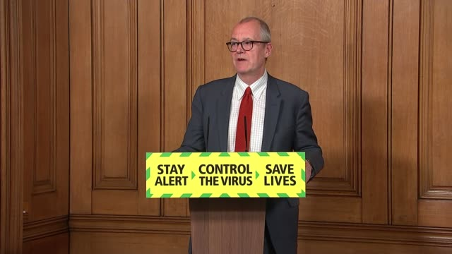 downing street press conference may 28th; england: london: westminster: downing street: int press conference part 5 of 11 sir patrick vallance... - number 9 video stock e b–roll