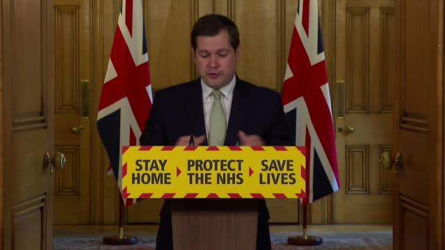 downing street press conference may 2nd england london westminster downing street int press conference part 3 of 16 robert jenrick mp speaking at... - customer service representative stock videos & royalty-free footage