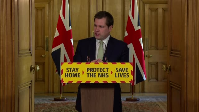 downing street press conference may 2nd england london westminster downing street int press conference part 6 of 16 robert jenrick mp reading out... - encouragement stock videos & royalty-free footage
