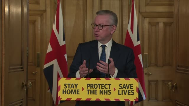 downing street press conference may 3rd england london westminster downing street int press conference part 8 of 13 michael gove mp and professor... - incentive stock videos & royalty-free footage