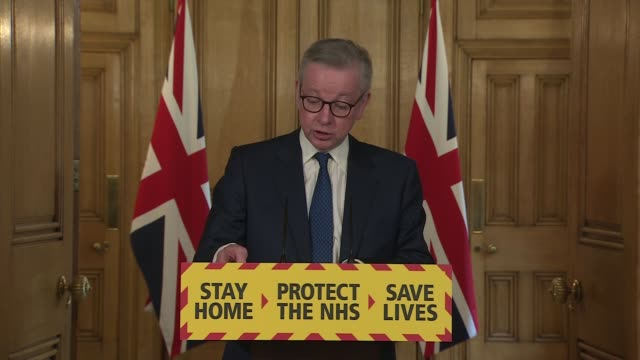 downing street press conference may 3rd england london westminster downing street int press conference part 1 of 13 michael gove mp and professor... - waking up stock videos & royalty-free footage