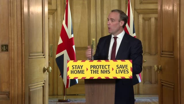 downing street press conference may 5th england london westminster downing street int press conference part 9 of 10 dominic raab mp and professor... - sports league stock videos & royalty-free footage