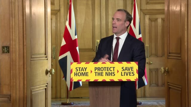 downing street press conference may 5th; england: london: westminster: downing street: int press conference part 5 of 10 dominic raab mp and... - tailored clothing stock videos & royalty-free footage