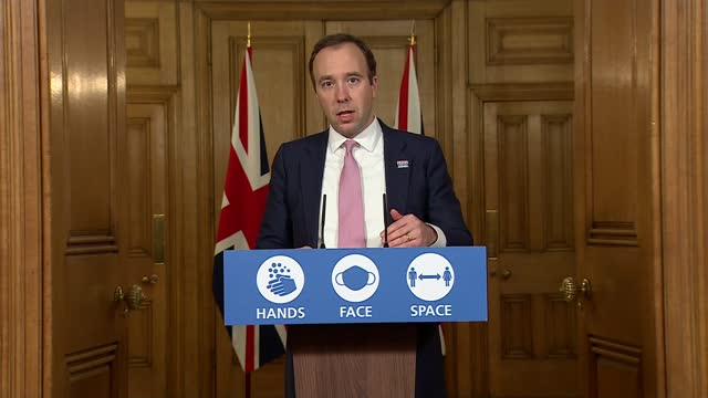 downing street press conference november 30th; england: london: westminster: downing street: int press conference part 4 of 10 matt hancock mp , prof... - politics点の映像素材/bロール