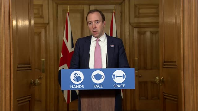 downing street press conference november 30th; england: london: westminster: downing street: int press conference part 9 of 10 matt hancock mp , prof... - politics点の映像素材/bロール