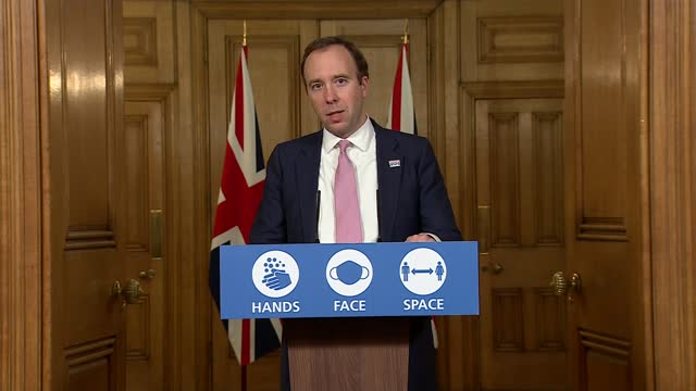 downing street press conference november 30th; england: london: westminster: downing street: int press conference part 10 of 10 matt hancock mp ,... - politics点の映像素材/bロール