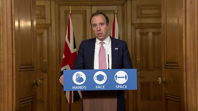 downing street press conference november 30th; england: london: westminster: downing street: int press conference part 8 of 10 matt hancock mp , prof... - politics点の映像素材/bロール