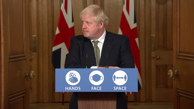 downing street press conference october 12th; england: london: westminster: downing street: int press conference part 9 of 11 boris johnson mp ,... - 政治と行政点の映像素材/bロール