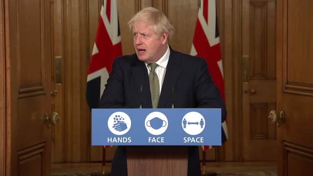downing street press conference october 12th england london westminster downing street int press conference part 11 of 11 boris johnson mp rishi... - furlough stock videos & royalty-free footage