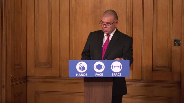 downing street press conference october 20th; england: london: westminster: downing street: int professor jonathan van-tam press conference statement... - chart stock videos & royalty-free footage