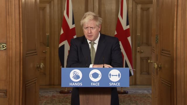 downing street press conference october 22nd england london westminster downing street int press conference part 6 of 11 boris johnson mp rishi sunak... - balance stock videos & royalty-free footage