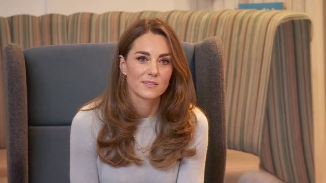 duchess of cambridge visits university of derby students ahead of world mental health day; england: derby: university of derby: int catherine,... - mental health stock videos & royalty-free footage