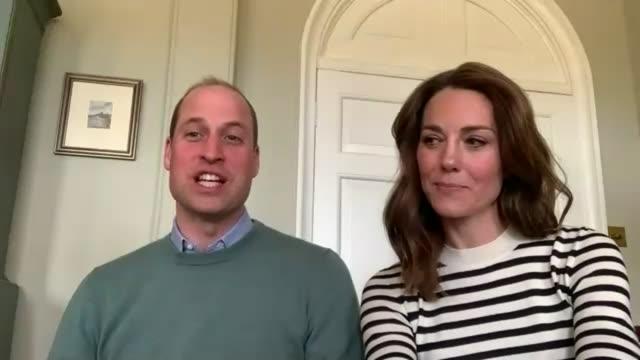 duke and duchess of cambridge pay tribute to nhs staff during coronavirus lockdown interview; england: norfolk: anmer hall: int prince william, duke... - トリビュート・イベント点の映像素材/bロール
