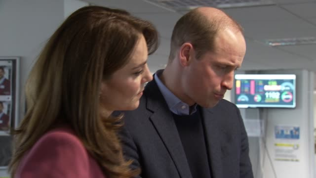 duke and duchess of cambridge visit nhs 111 call centre in croydon; england: london: croydon: nhs 111 call centre: int prince william, duke of... - prince william stock videos & royalty-free footage