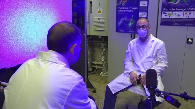 edinburgh university scientists hoping to discover whether face masks help prevent spread of coronavirus; scotland: edinburgh: university of... - wind stock videos & royalty-free footage